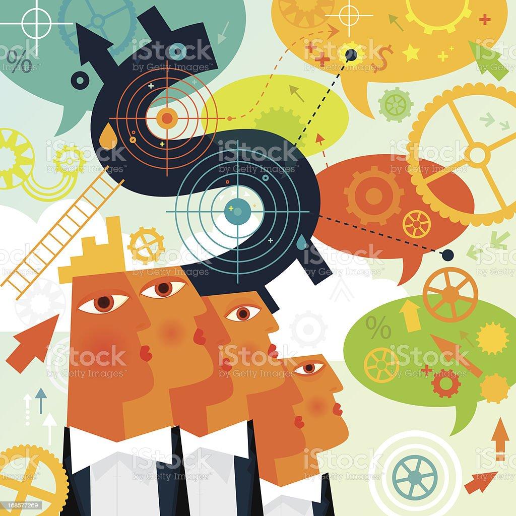 Money Target royalty-free stock vector art