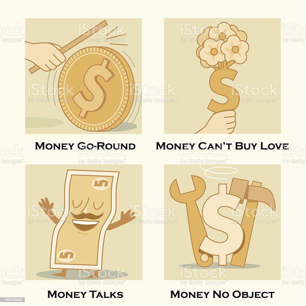 Money Themes vector art illustration