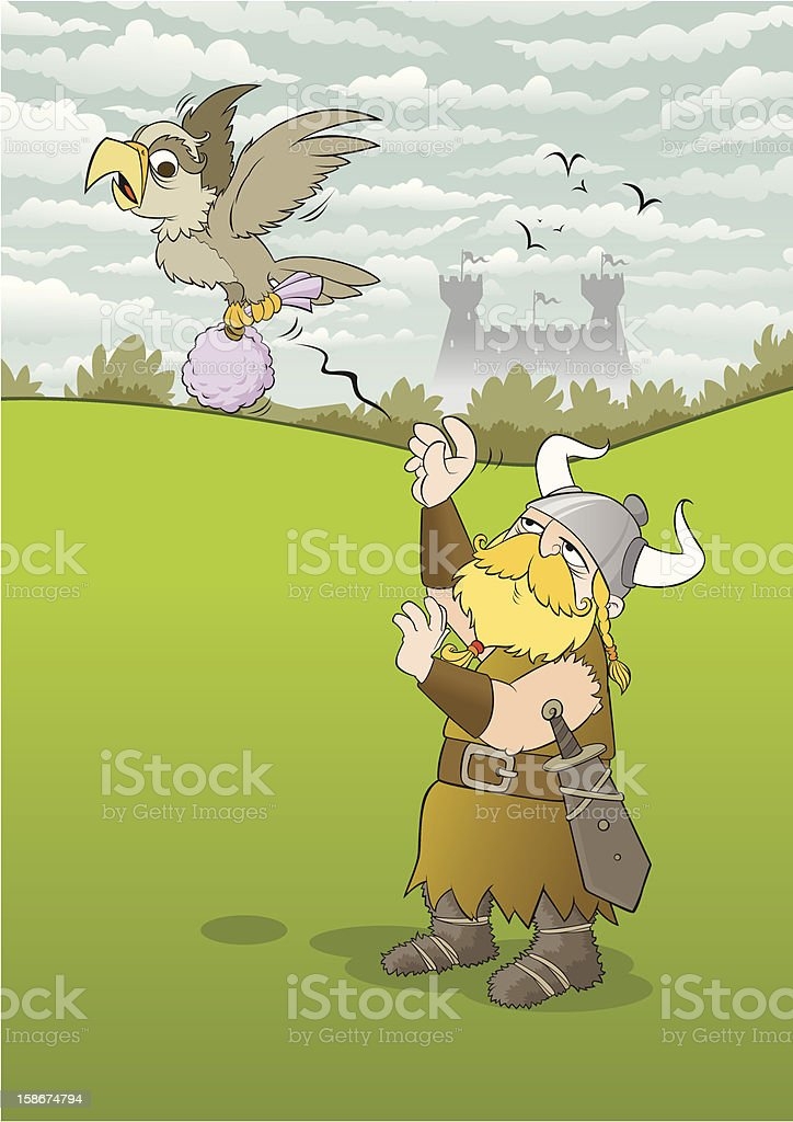 Money Transfer in Medieval Times royalty-free stock vector art