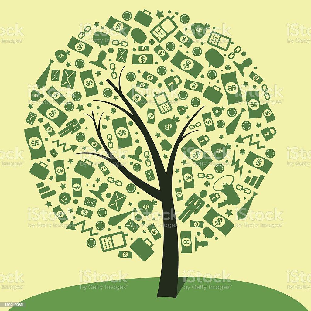 money tree royalty-free stock vector art