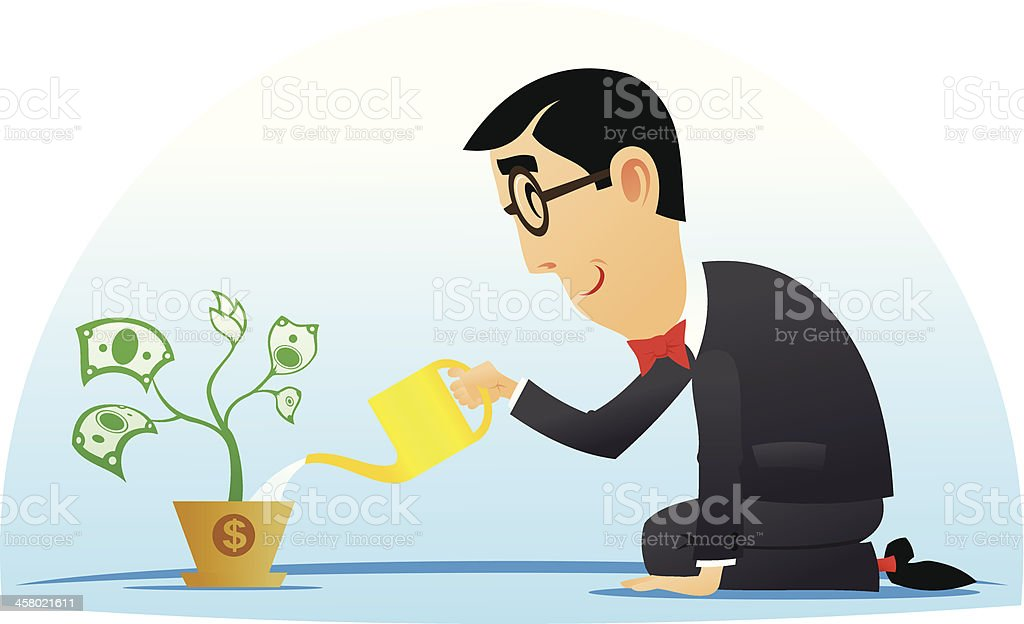 Money tree royalty-free stock vector art