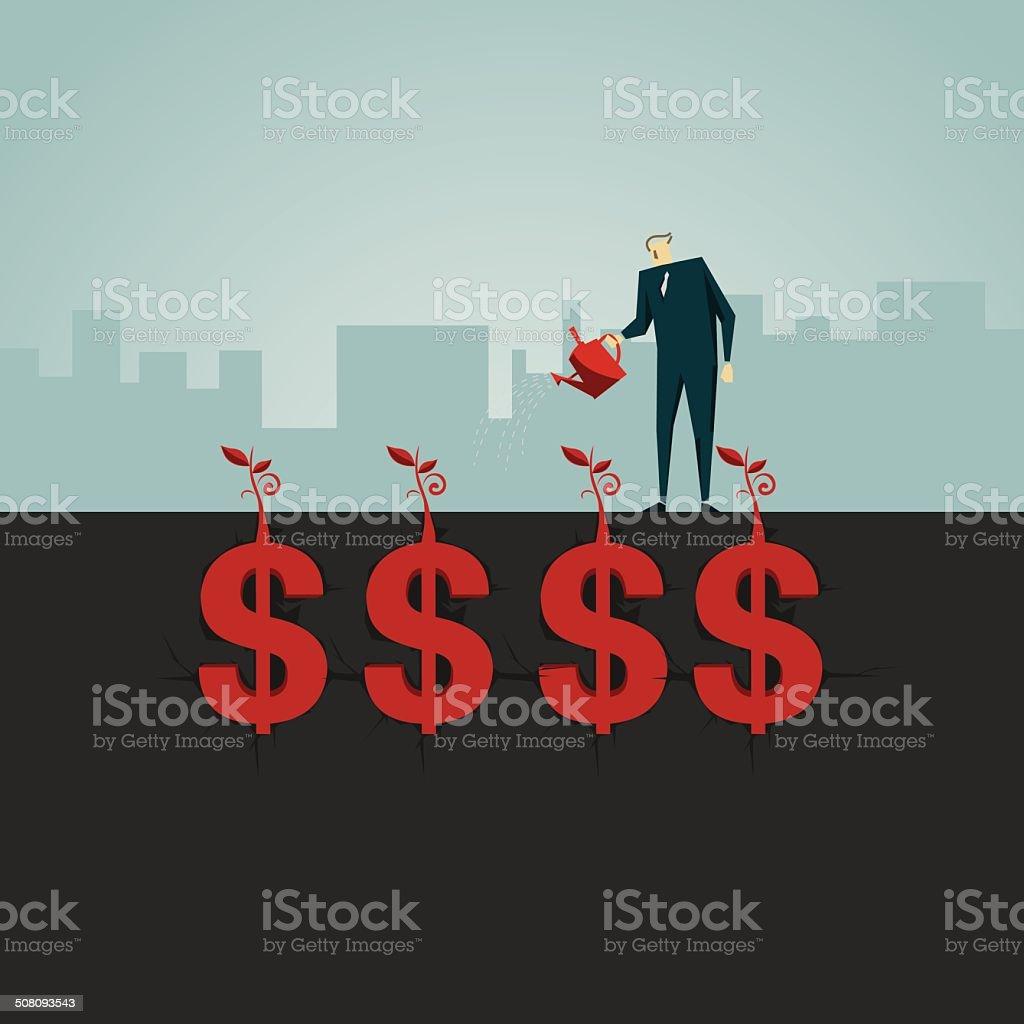 Money Tree vector art illustration