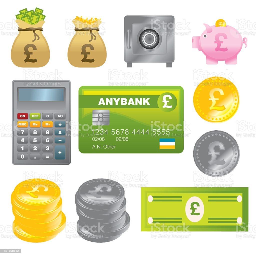 UK Money royalty-free stock vector art