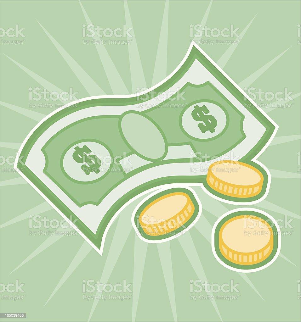 money royalty-free stock vector art