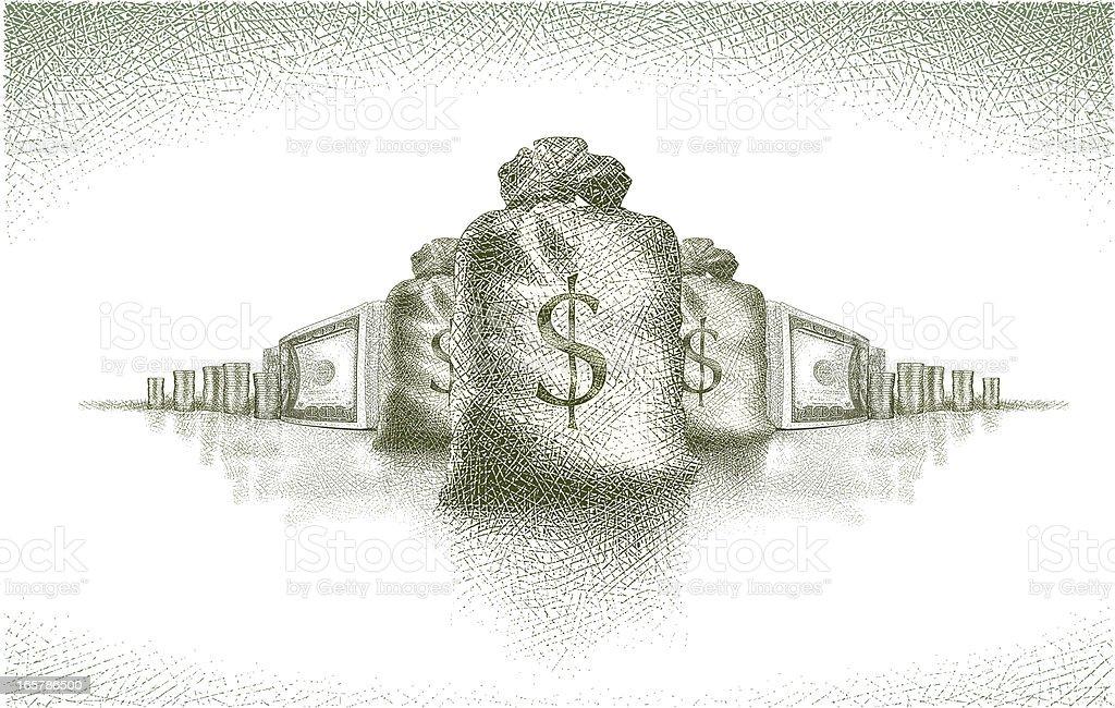 Money! royalty-free stock vector art