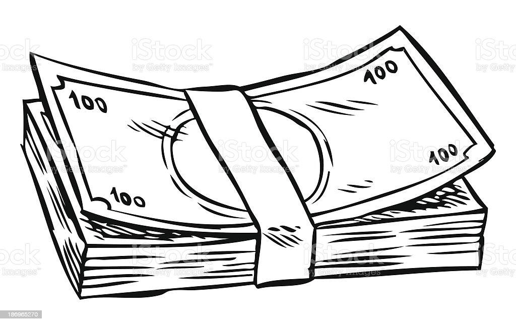 Line Drawing Money : Money stock vector art istock