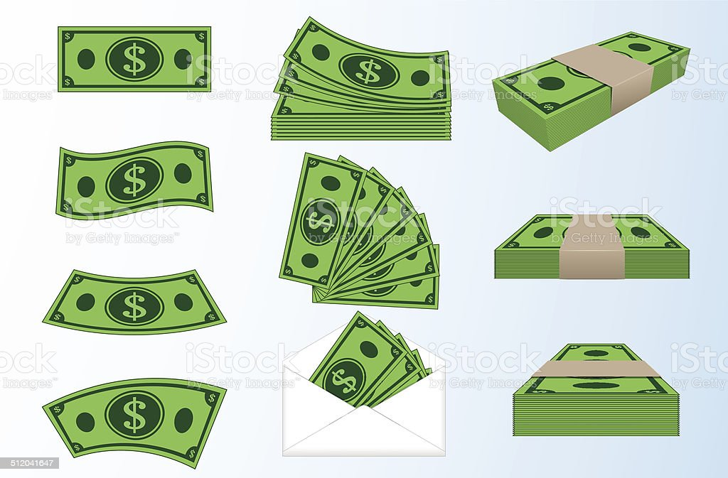 money vector art illustration