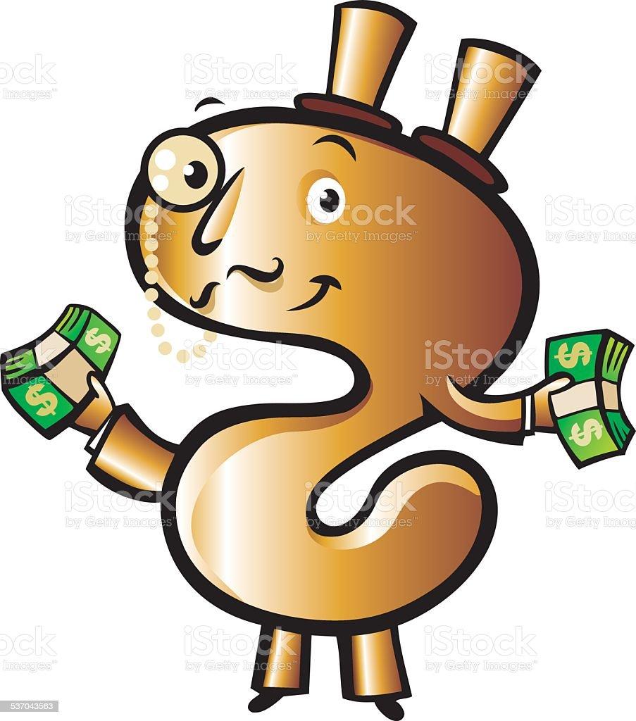 Money!! vector art illustration