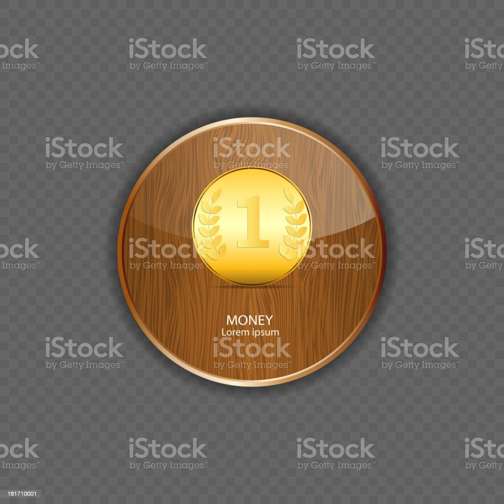 Money wood application icons vector illustration royalty-free stock vector art