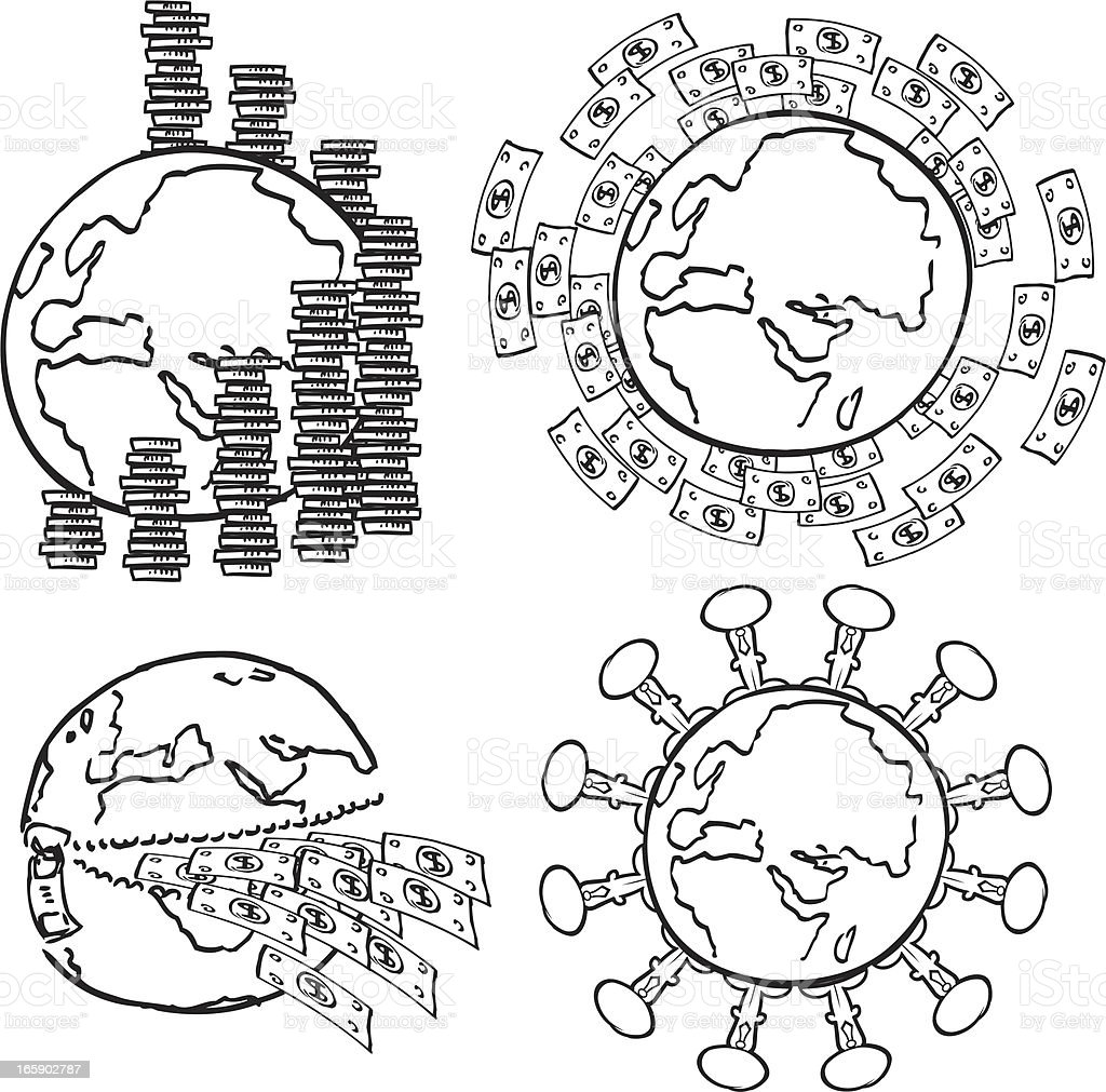 Money World royalty-free stock vector art
