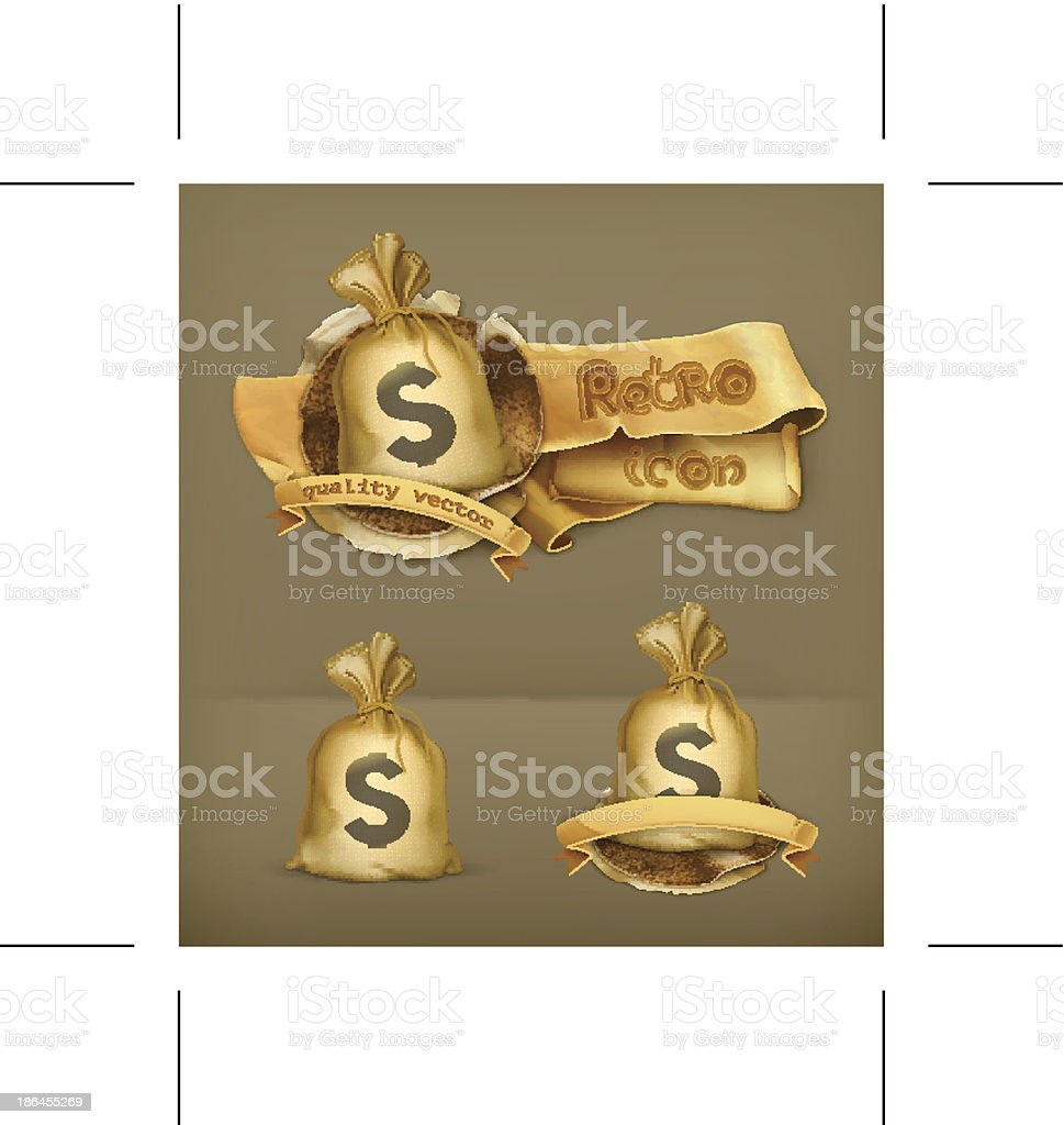 Moneybag icon royalty-free stock vector art