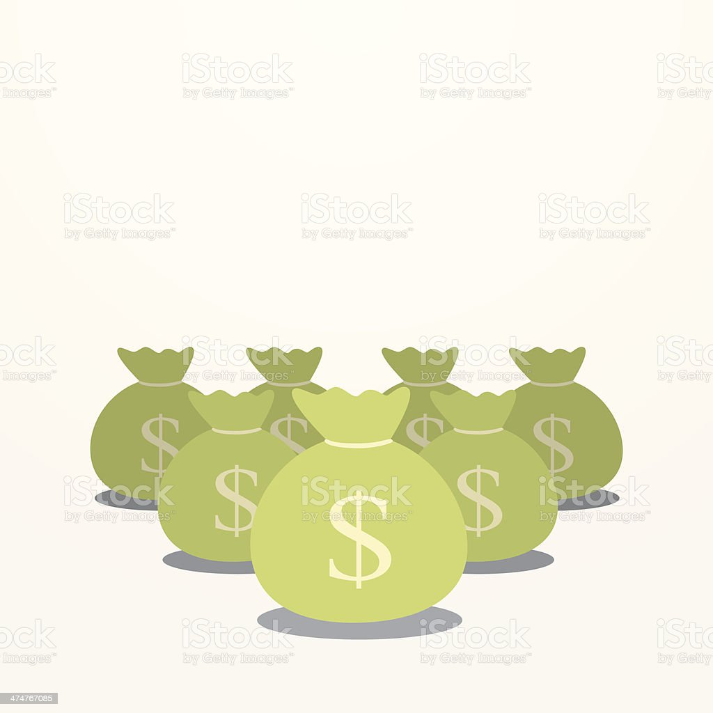 moneybag vector art illustration