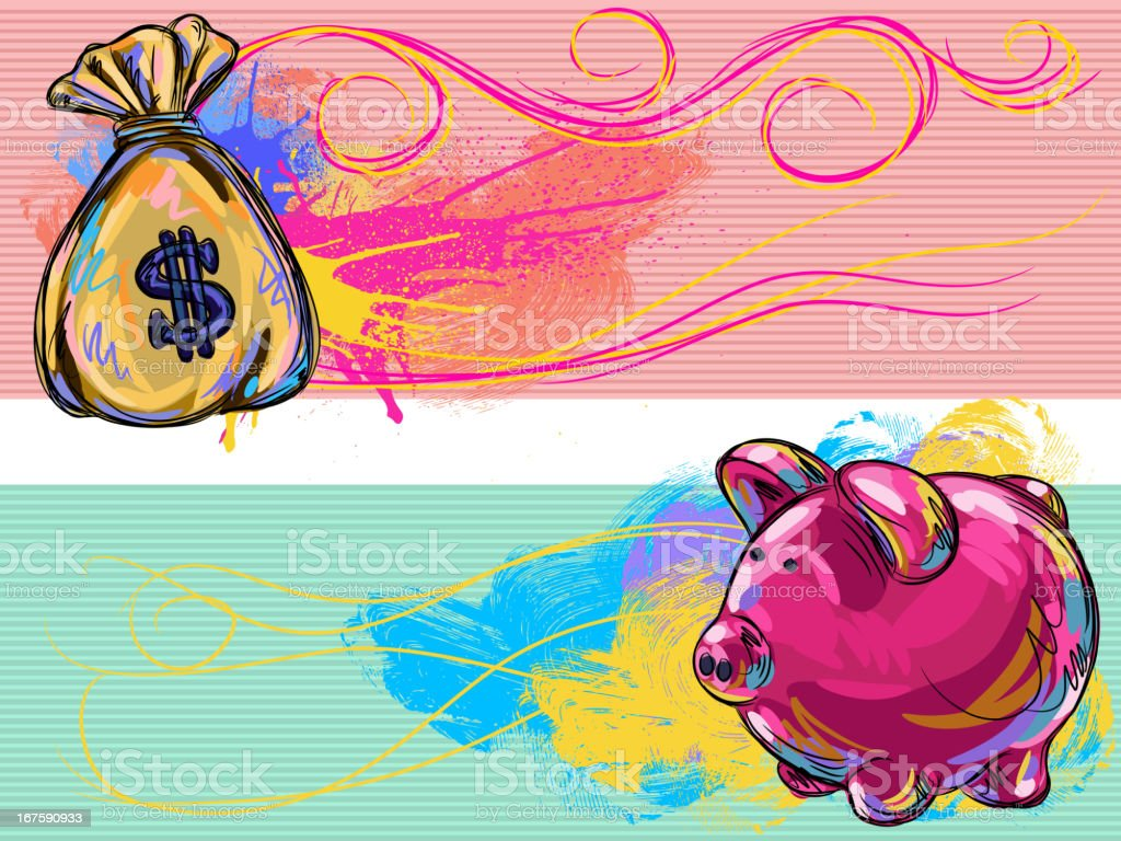 Money/Financial Banners royalty-free stock vector art
