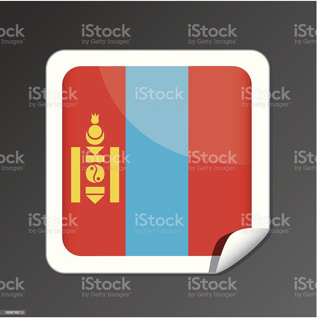 Mongolia flag icon royalty-free stock vector art