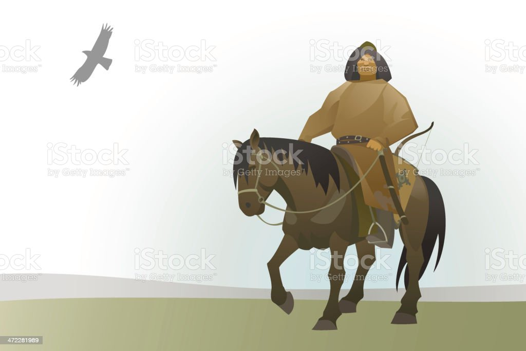 Mongolian nomad royalty-free stock vector art