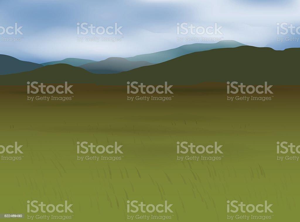 Mongolian Wallpaper vector art illustration
