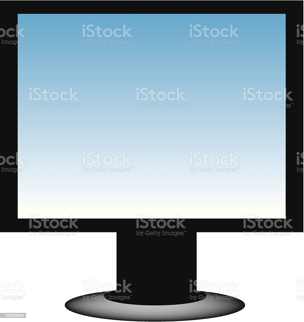 PC Monitor royalty-free stock vector art