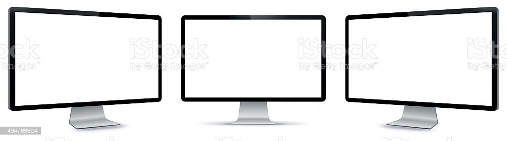 PC Monitor Vector Illustration. vector art illustration