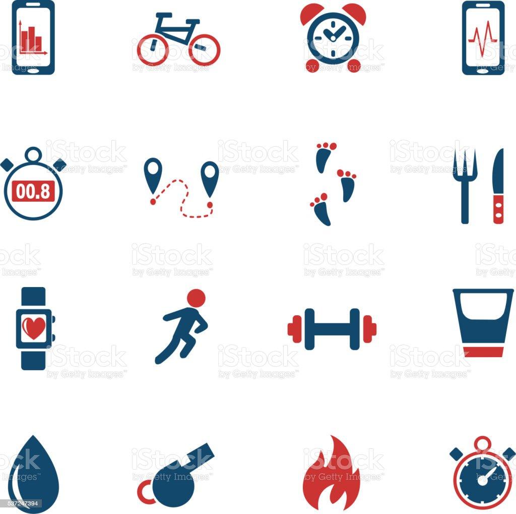 monitoring apps icon set vector art illustration