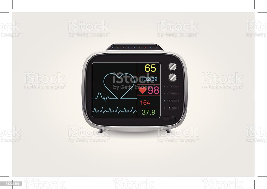 ECG Monitoring vector art illustration