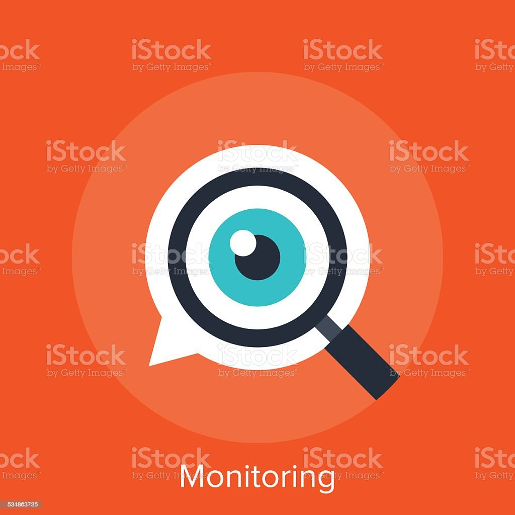 Monitoring vector art illustration