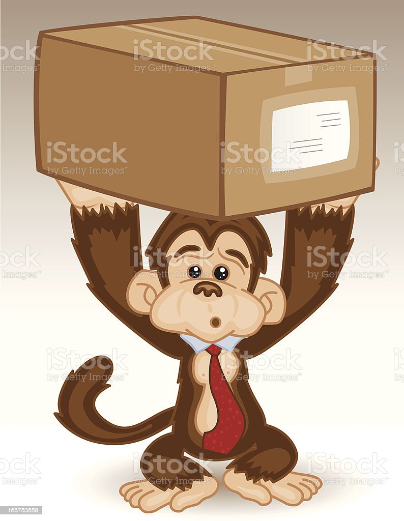 Monkey Business - Package royalty-free stock vector art