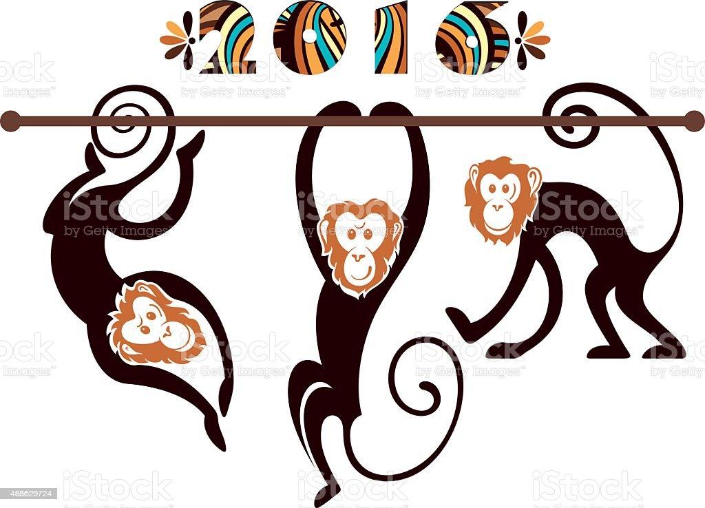 Monkey illustration vector art illustration