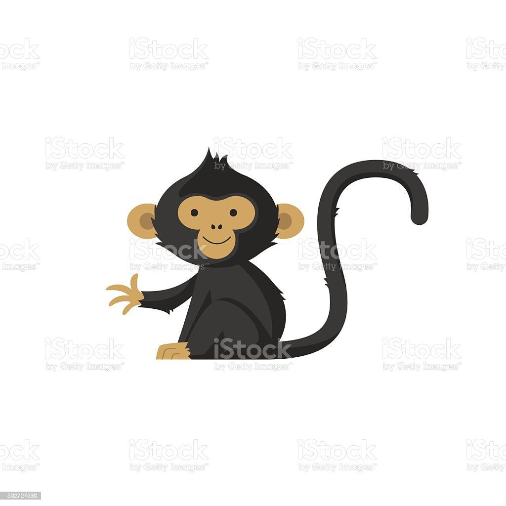 Monkey logo vector art illustration