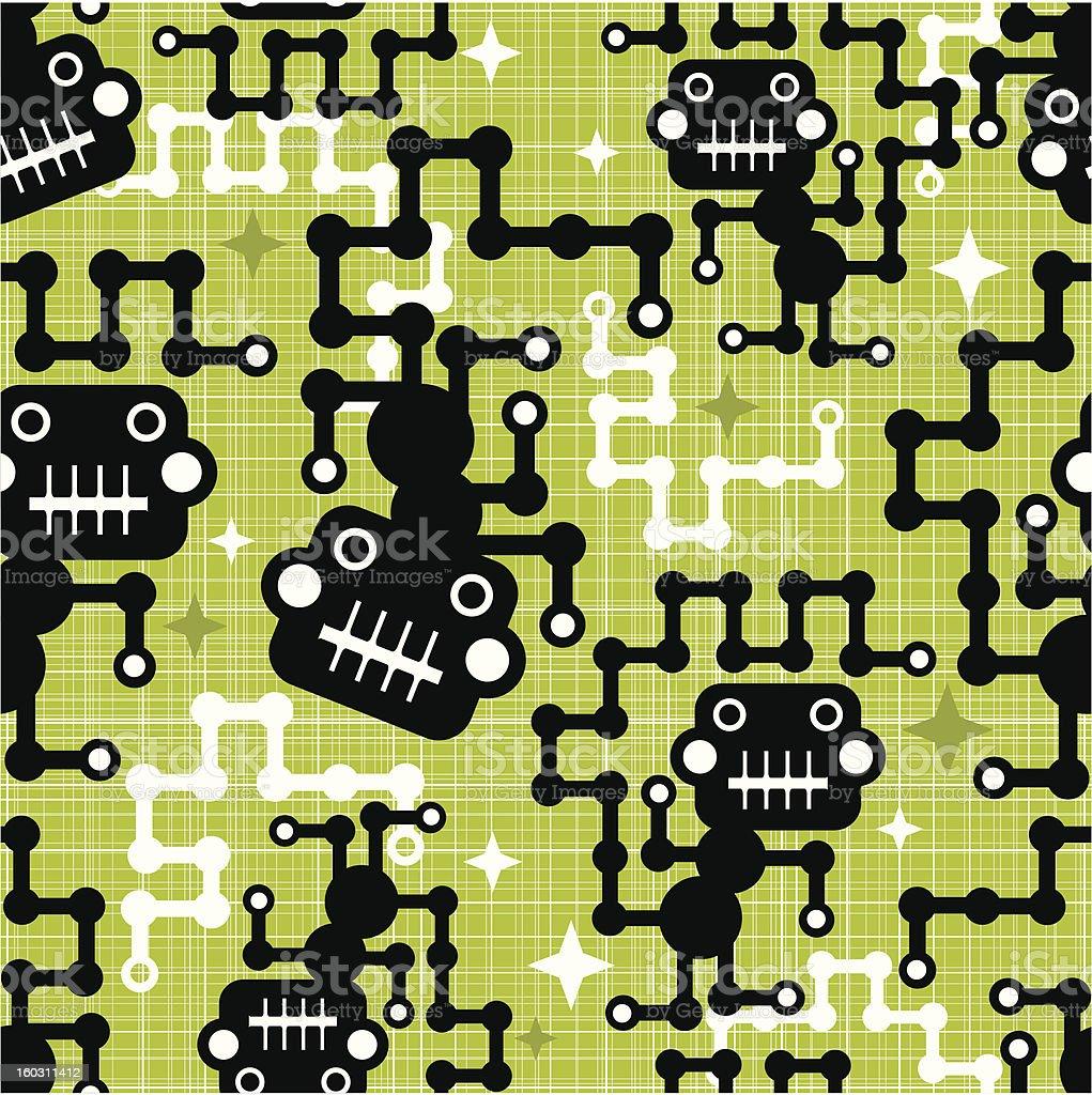 Monkey seamless pattern. royalty-free stock vector art