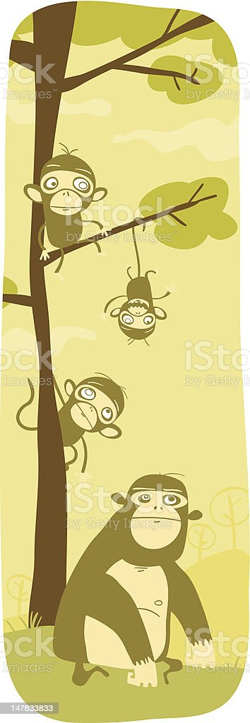 Monkey Time! vector art illustration