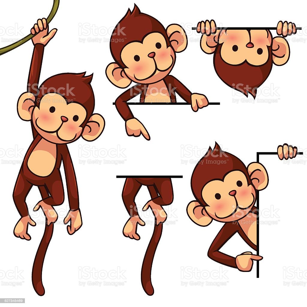 Monkey royalty-free stock vector art