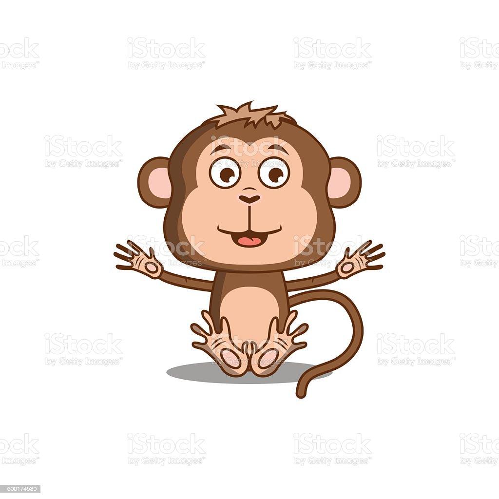 monkey vector art illustration