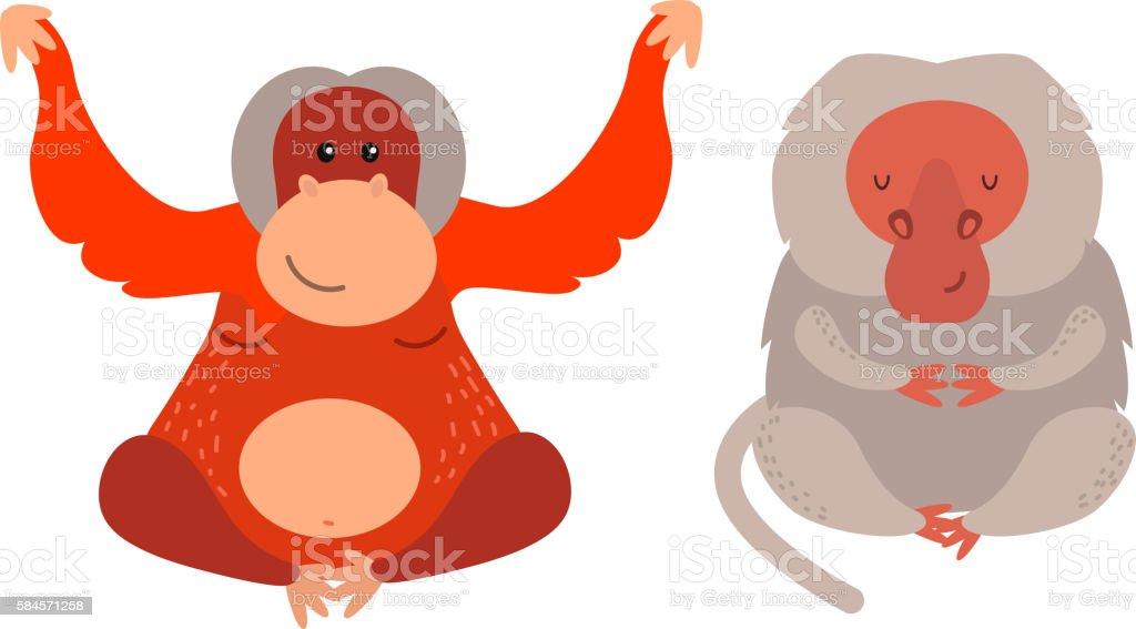 Monkey vector illustration vector art illustration