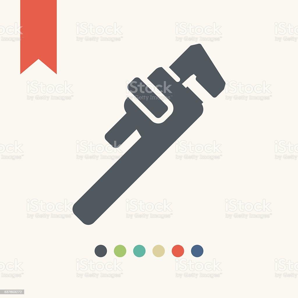 Monkey wrench vector art illustration