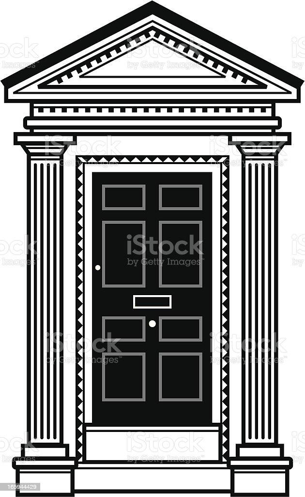 Mono door royalty-free stock vector art