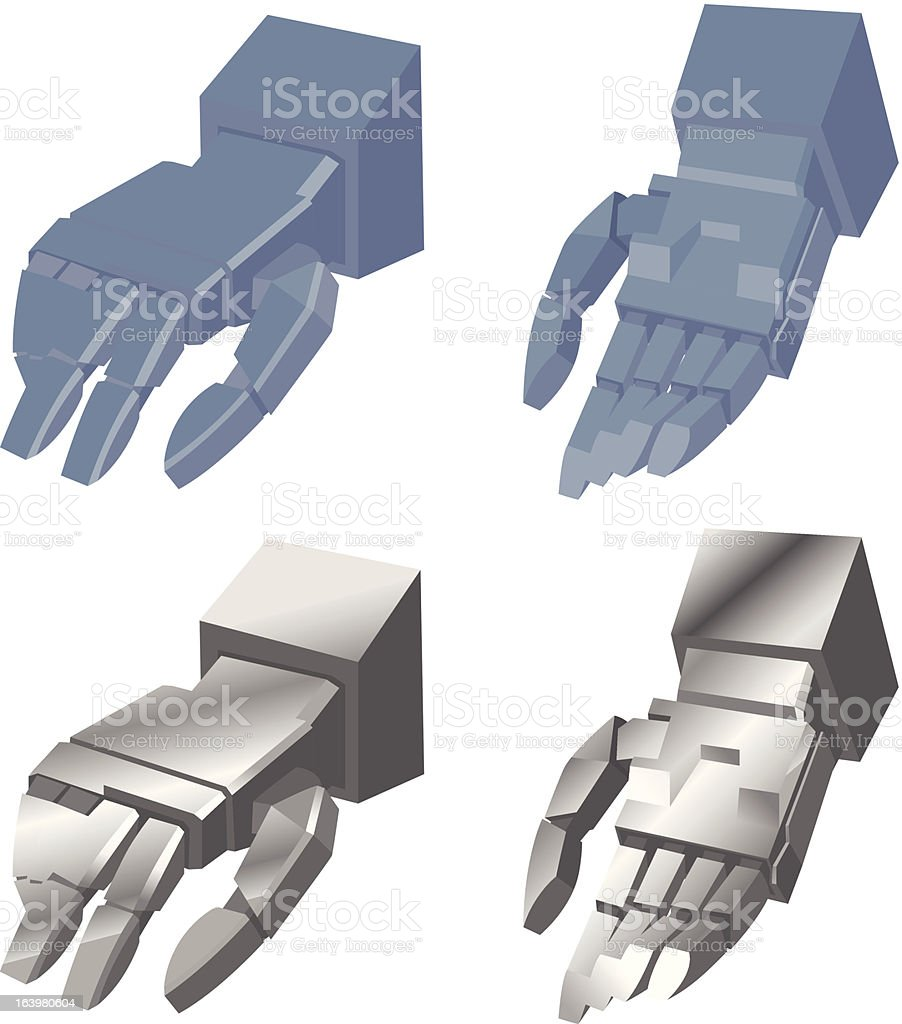Mono Hand of Robot royalty-free stock vector art