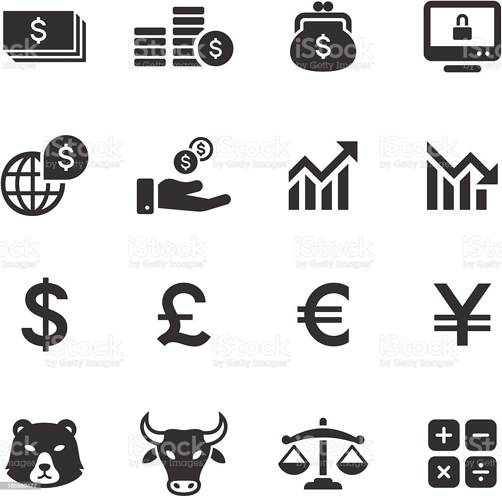 Mono Icons Set | Banking & Finance vector art illustration