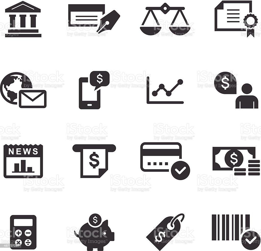 Mono Icons Set | Banking & Finance royalty-free stock vector art