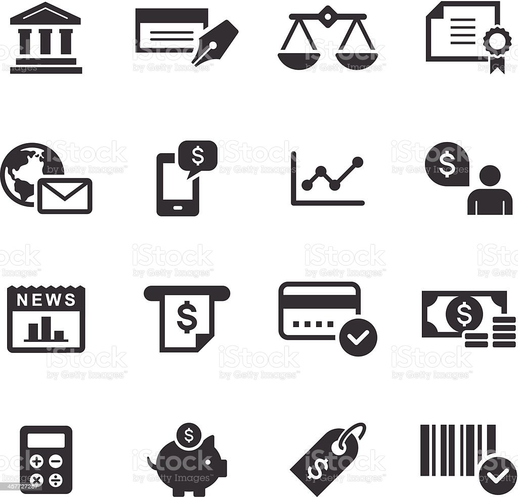 Mono Icons Set | Banking & Finance vector art illustration
