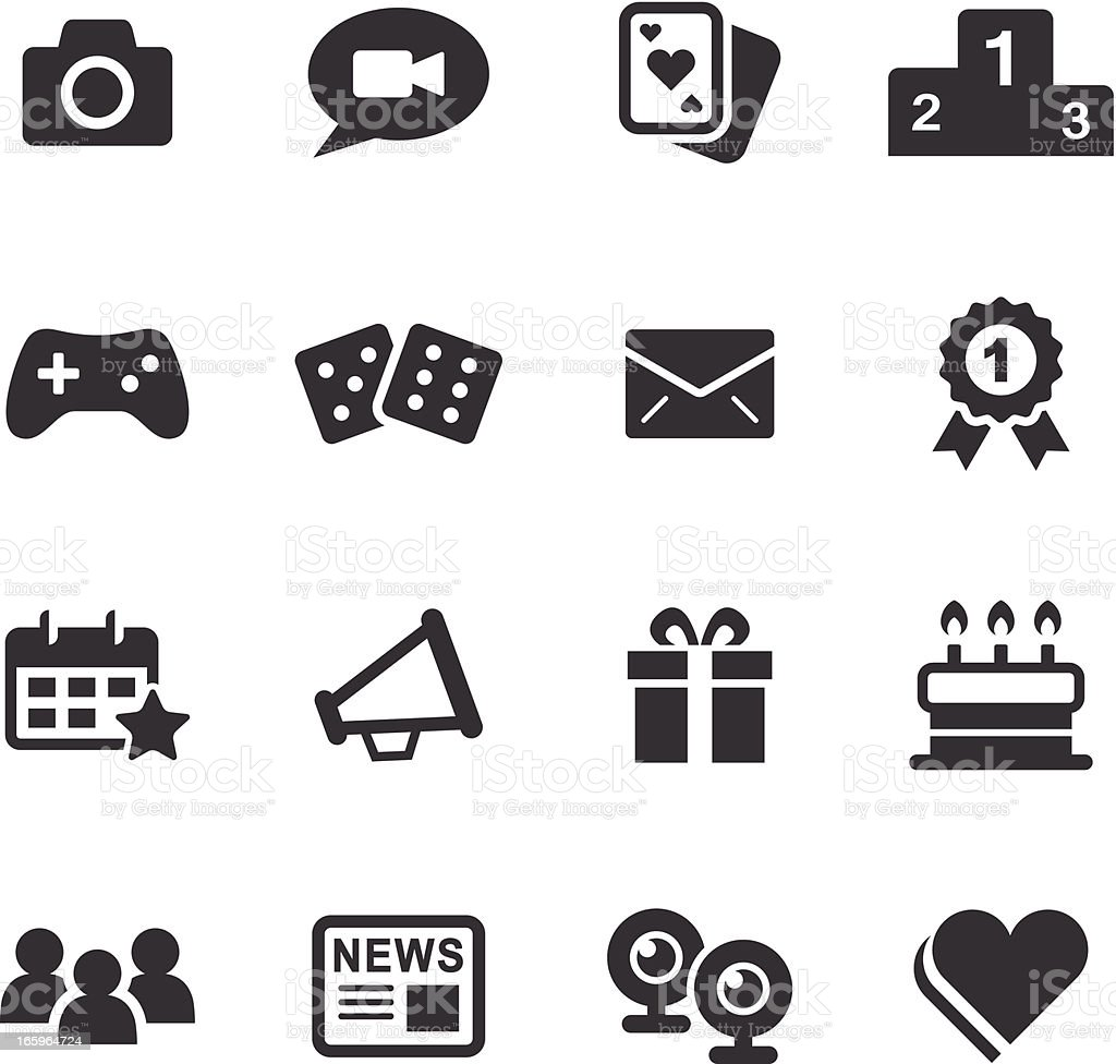 Mono Icons Set | Social Media vector art illustration