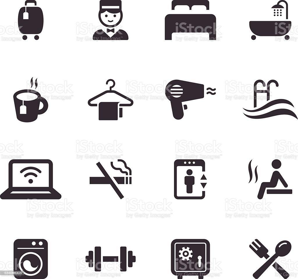 Mono Icons Set | Travel vector art illustration