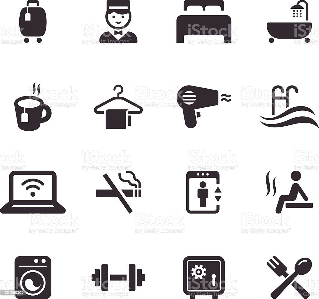 Mono Icons Set | Travel vector art illustration