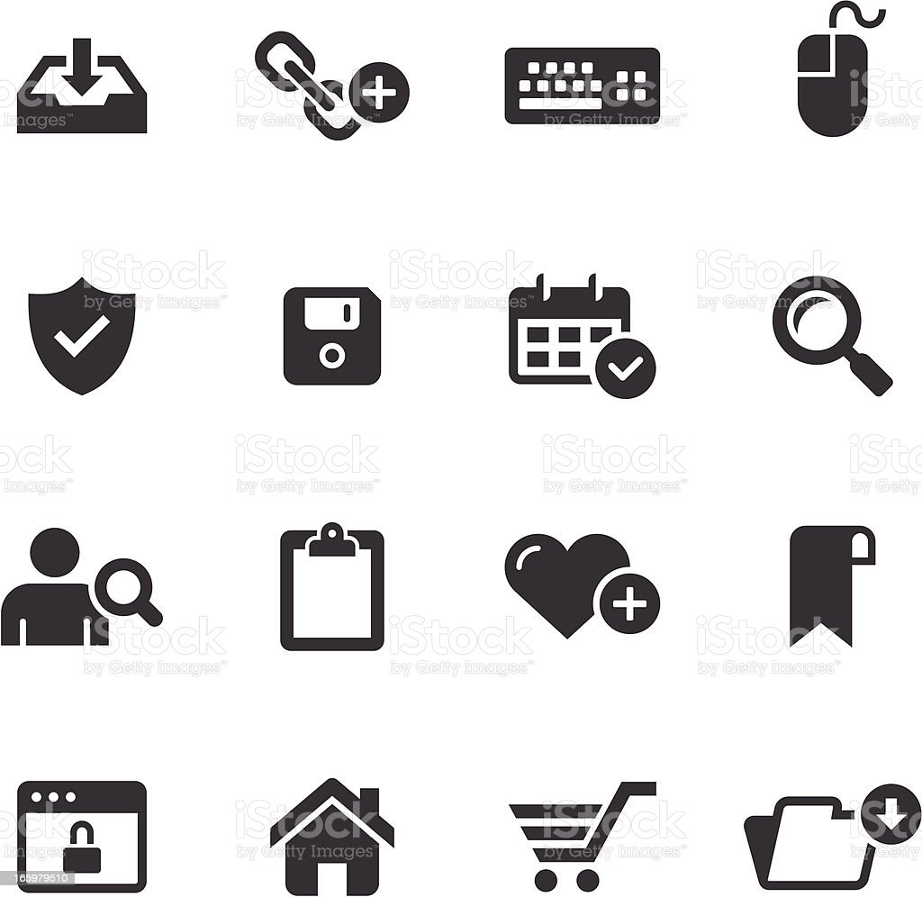Mono Icons Set | Web & Internet royalty-free stock vector art