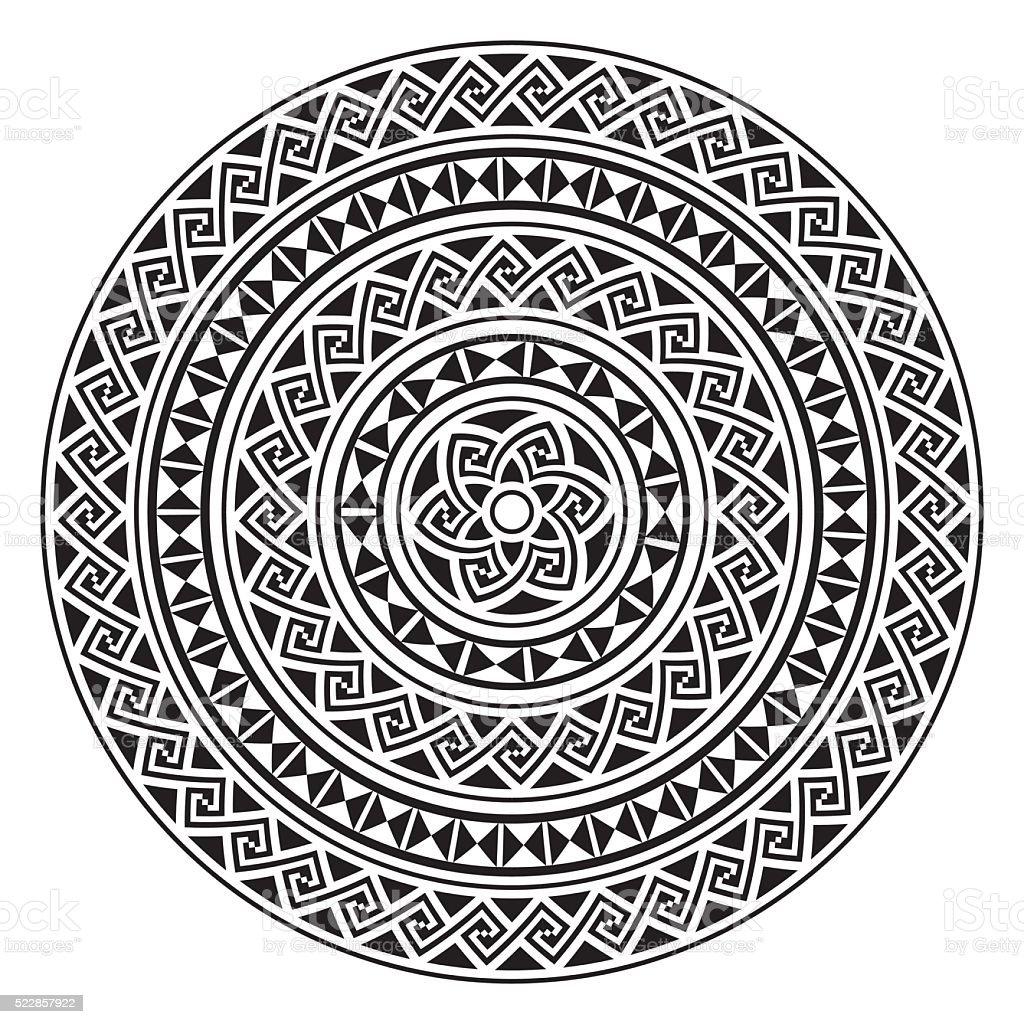 Monochromatic ethnic seamless textures. vector art illustration