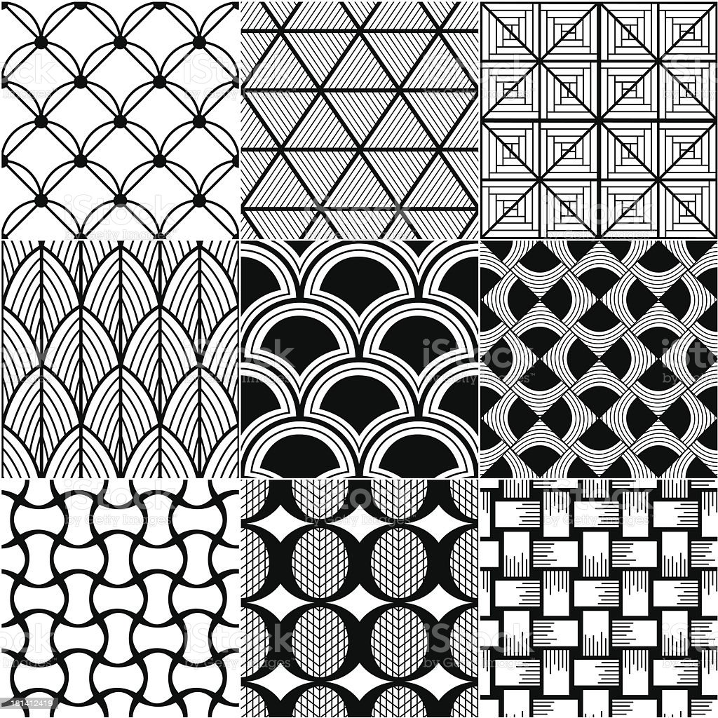 monochrome abstract seamless background royalty-free stock vector art