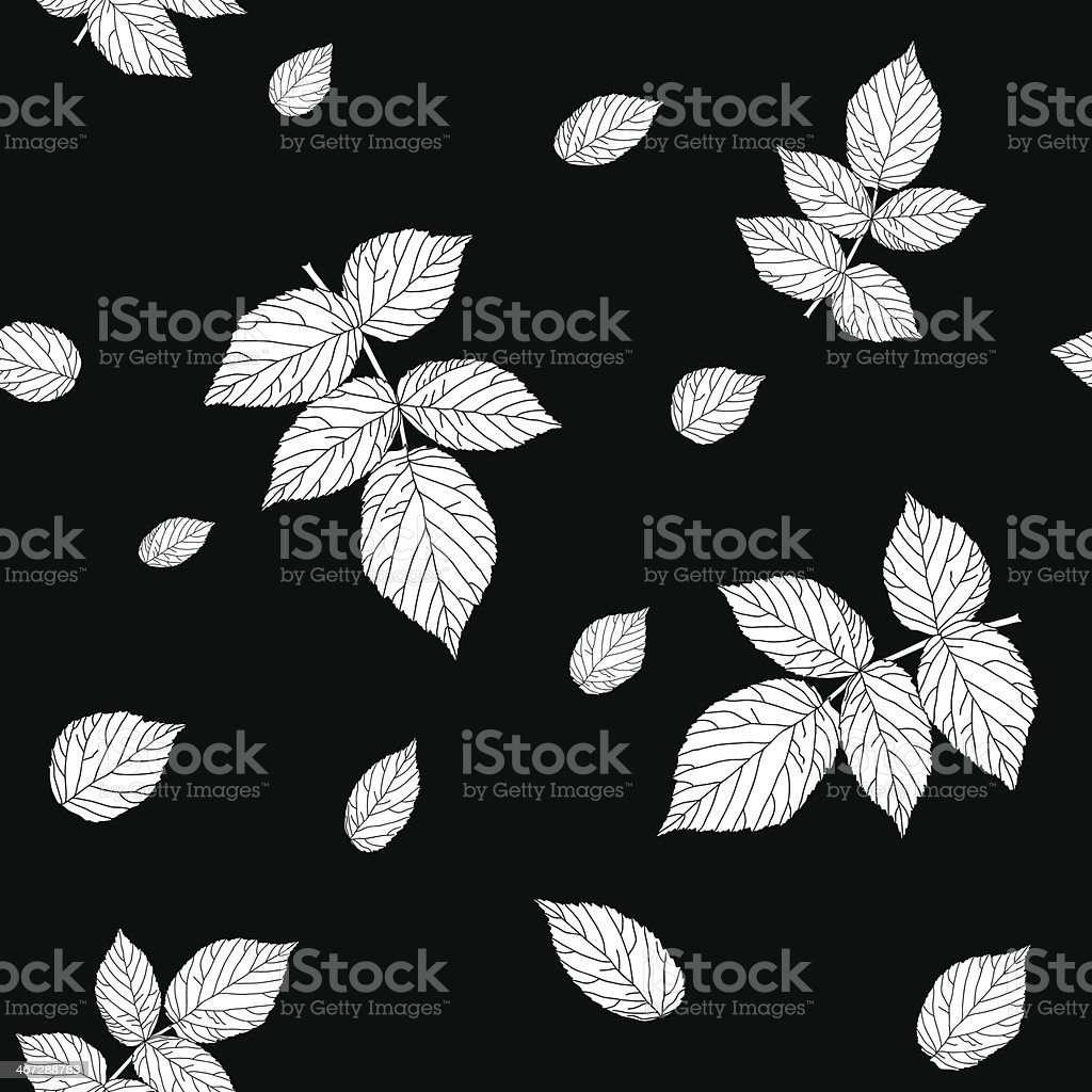 Monochrome black and white colored seamless pattern with raspber royalty-free stock vector art