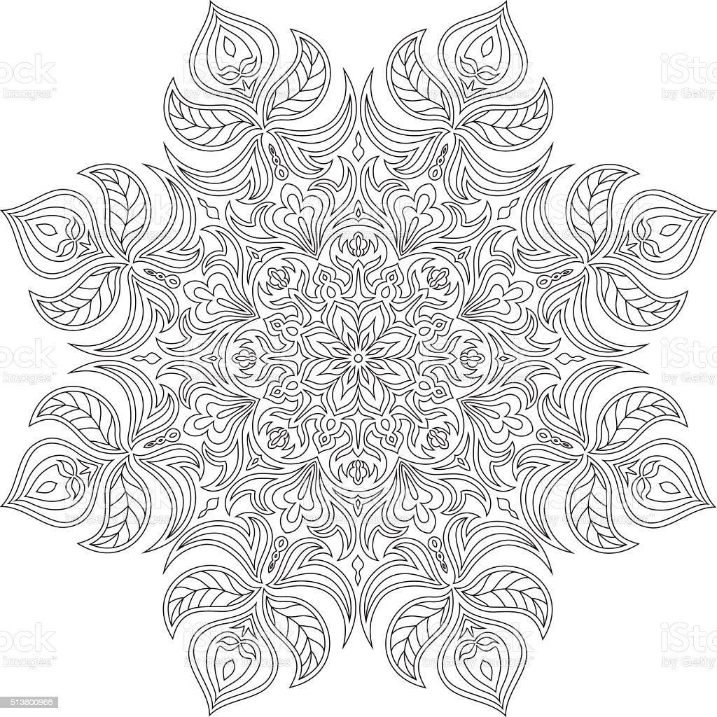 Cercle Colorier En mati¨re textile Flocon de neige Asie