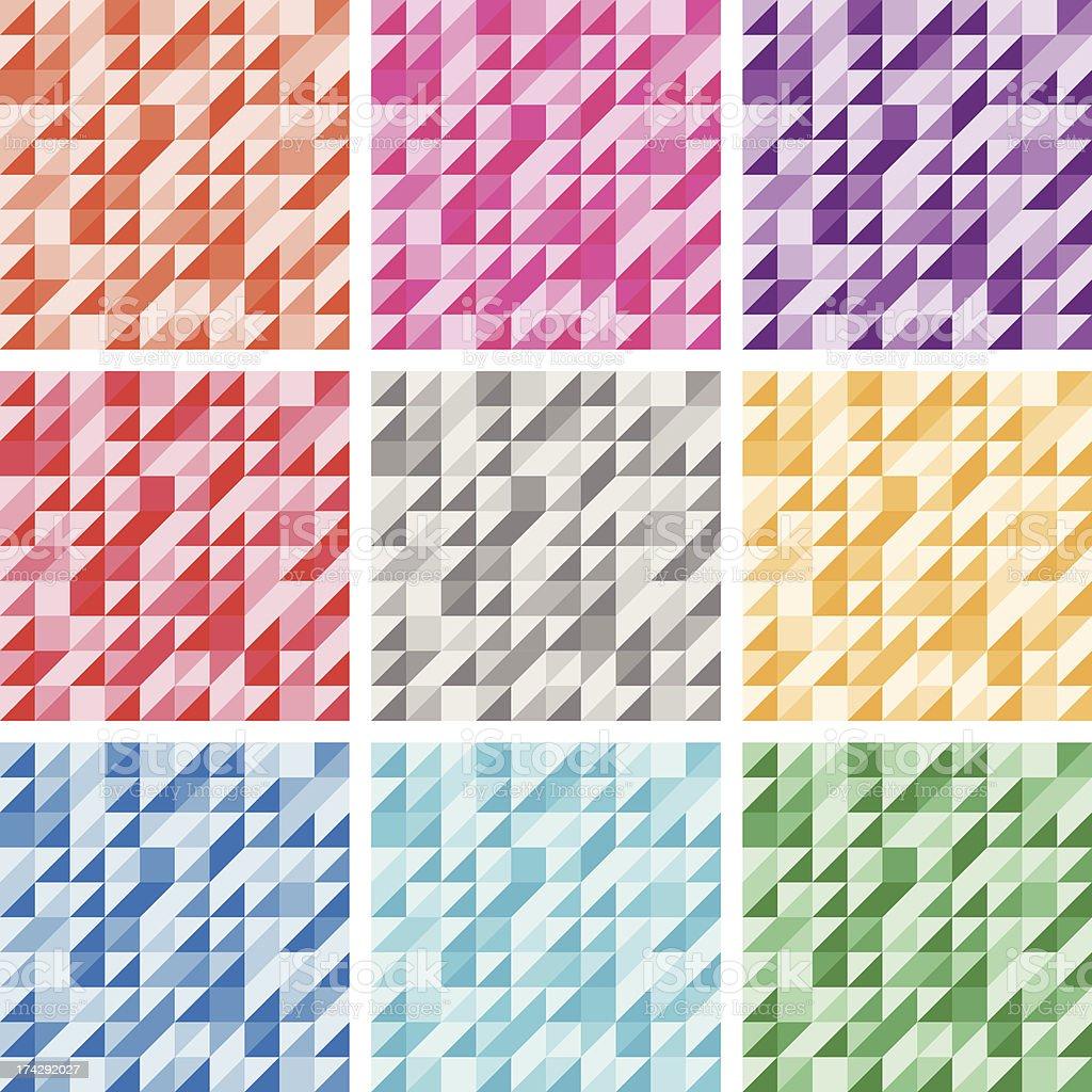 Monochrome Geometric Seamless Background royalty-free stock vector art