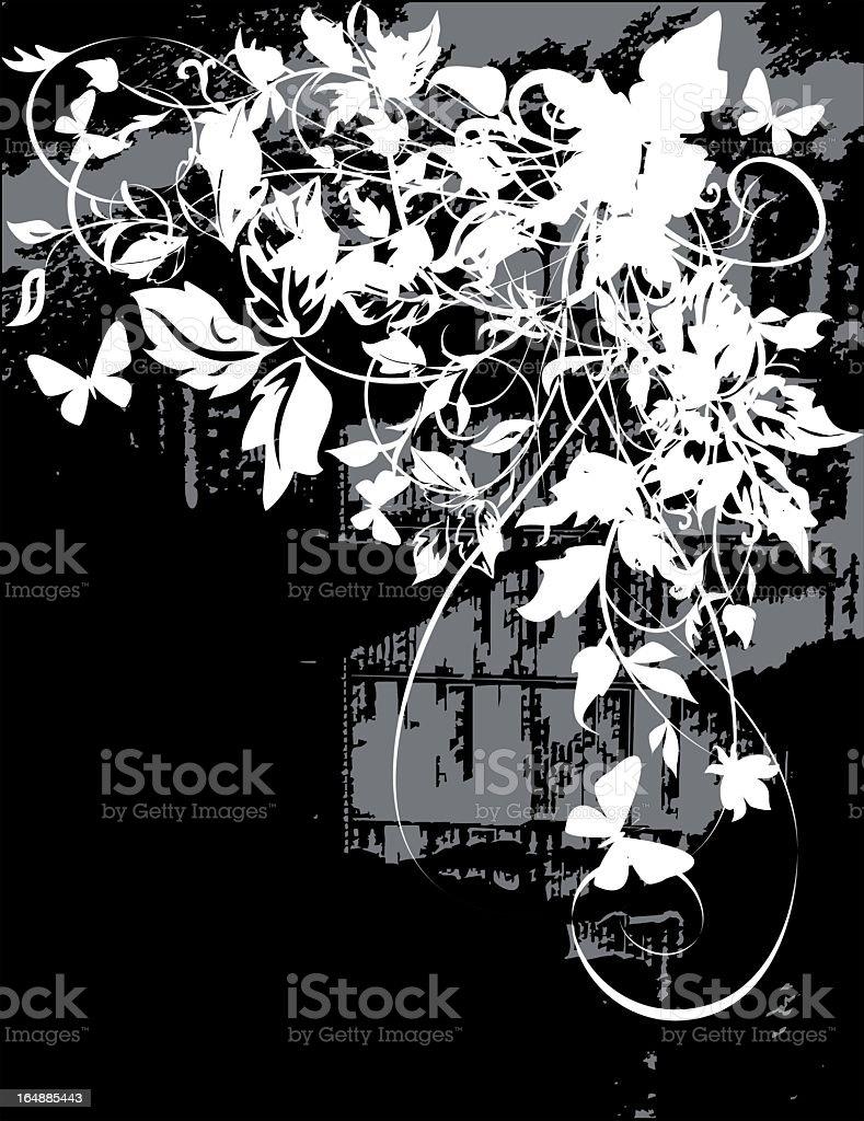 monochrome grunge background vector art illustration