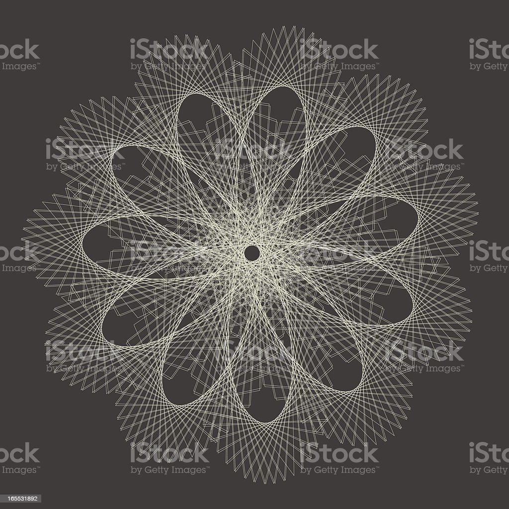 Monochrome Guilloch?, Vector Illustration royalty-free stock vector art